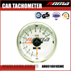 "3.75"" Clear Lens White LED Electrical Stepping Gauge Tachometer"