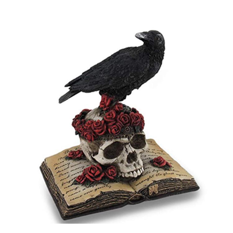 простой, фото ворона на черепе многочисленные