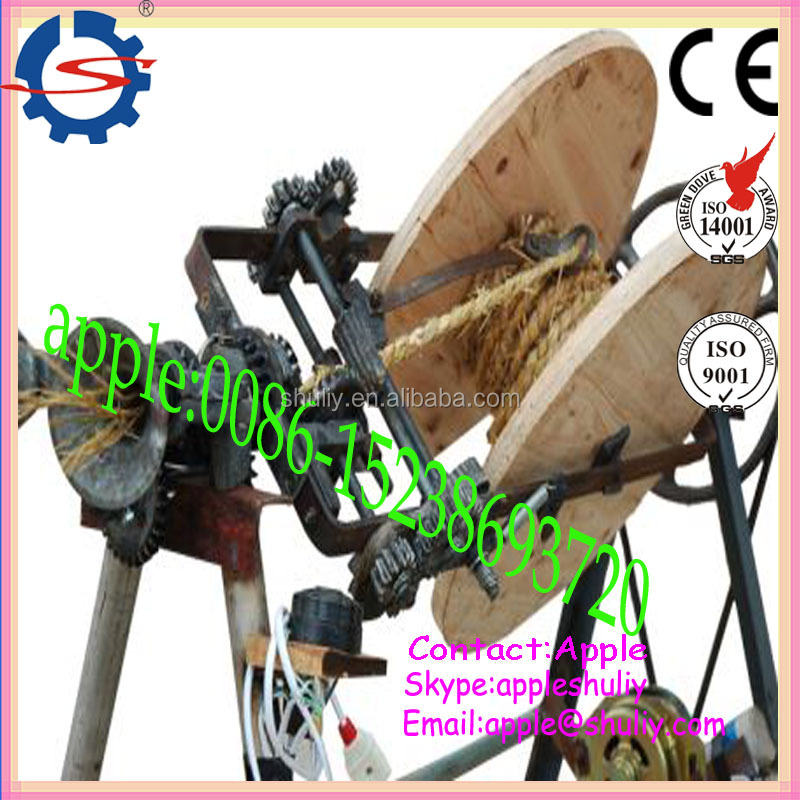 Low cost coir rope making machine