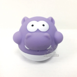 Rubber Animal Shape Hippo Baby Bath Toy