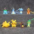 8pcs lot PVC Figure Toys Phone Strap Pikachu Bulbasaur Flareon Horsea Jigglypuff Psyduck Lapras Mini PVC