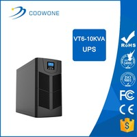 coowone zero transfer time HF on-line ups battery backup 1KVA power supply with external storage battery CE