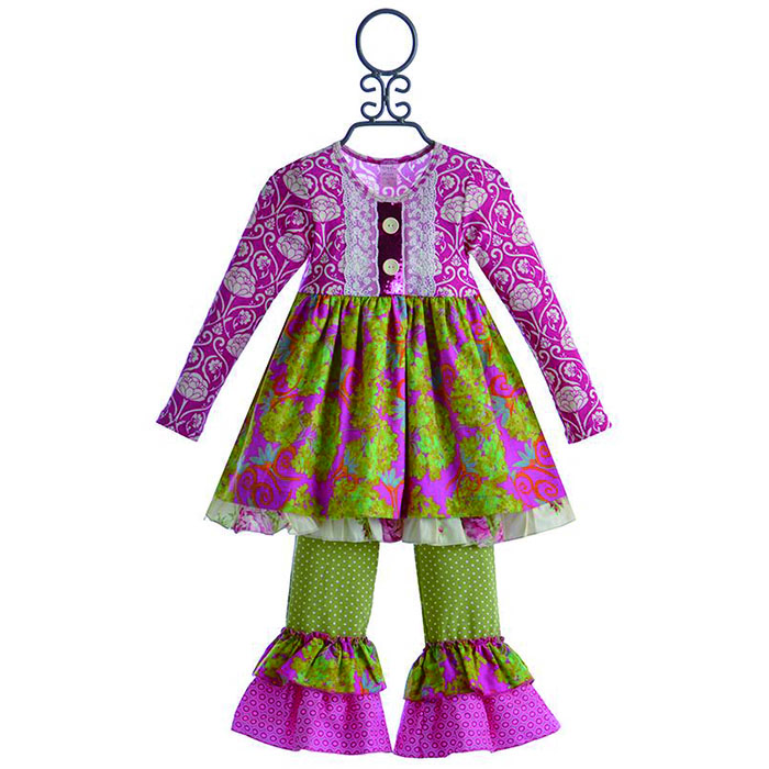 Hot sale wholesale girls autumn boutique clothing children's cotton clothes cute girls outfits clothing sets