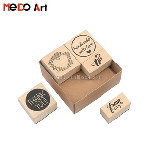 5pcs Super Quality Wooden Stamp Collection for Thanks-note Making