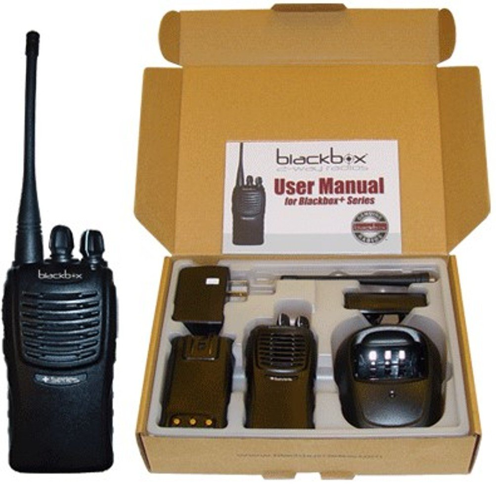 Klein Electronics BLACKBOX+-U Blackbox+ Professional UHF Two-Way Radio, 4 Watt power, 16 Channel with Scan, 2-Tone Encode/Decode, VOX Voice activated, Voice Enunciation for each channel