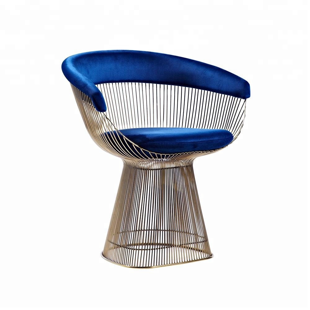 furniture living room modern platner style arm chair