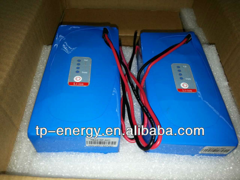 24V 15Ah LiFePo4 battery with LED capacity indicator