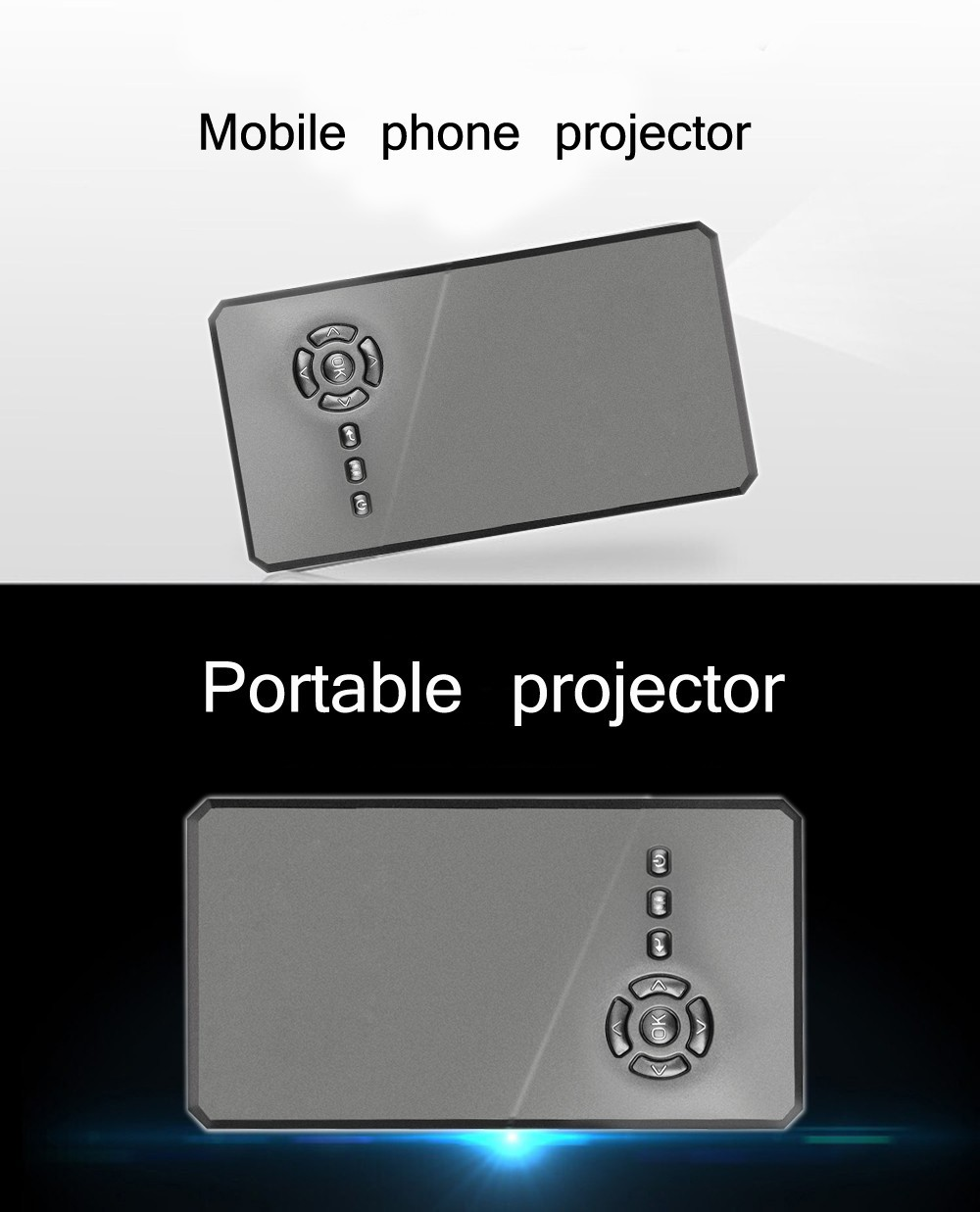 The latest android 4 4 wifi wireless bluetooth mini micro for Ipad mobile projector