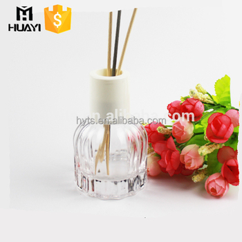 beautiful design custom luxury reed diffuser glass bottle 100ml