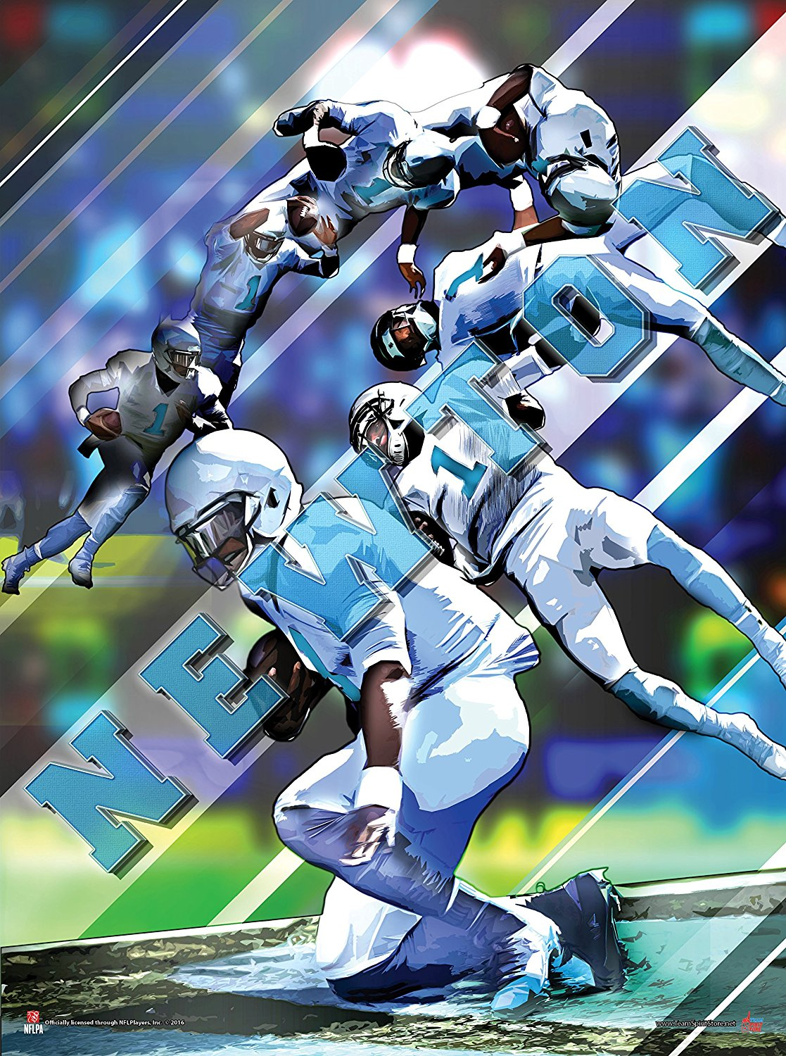 premium selection ca56a 507a8 Buy Cam Newton Superman 24x18 Football Poster Auhentic Team ...