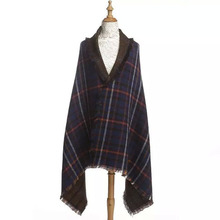 New style color matching acrylic plaid scarf /shawl