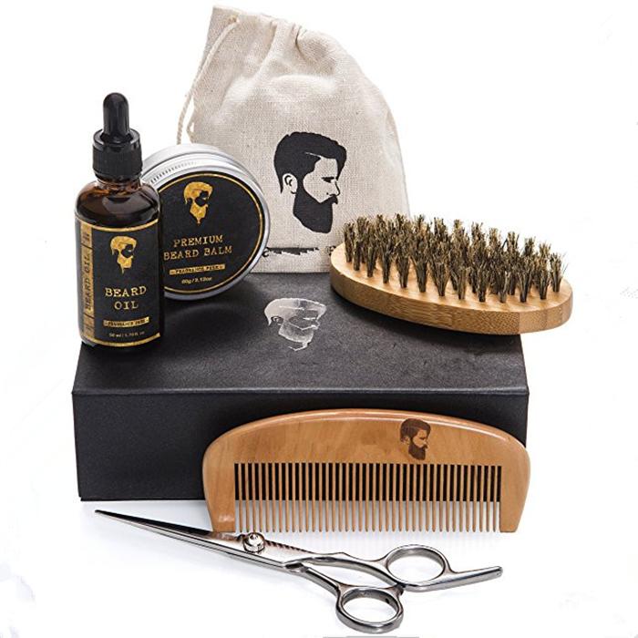 Private label mens beard grooming kit