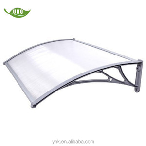 custom standard polycarbonate clear plastic windproof awnings