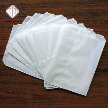 Bioecycle Small Plain Wax Paper Bag Greaseproof For Oil Food High Quality Craft Coated Bags