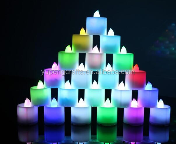 Festival flashing led light candles different colors light up flashing candles