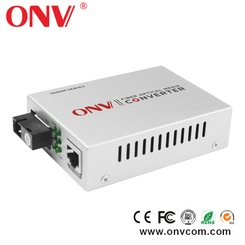 Single-mode dual fiber 10/100Mbps 16port Ethernet to fiber optic media converter with SFP Module LC POE Switch