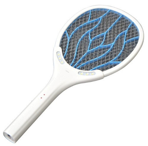 Removable Battery Rechargeable Electric Swatter Pest Control Insect Bug Bat Wasp Zapper Fly Mosquito Killer With LED Lighting