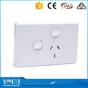 2017 Hotsale Elegant Design SAA 2 Gang 1 Way 10A Surface Wall Switches