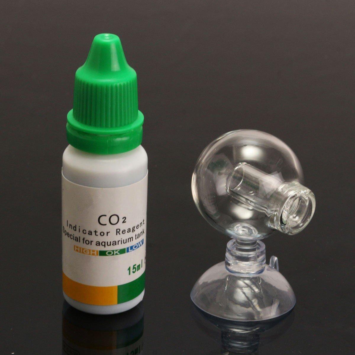 BephaMart Aquarium Carbon Dioxide CO2 Monitor PH Indicator Glass Drop Ball Checker Tester
