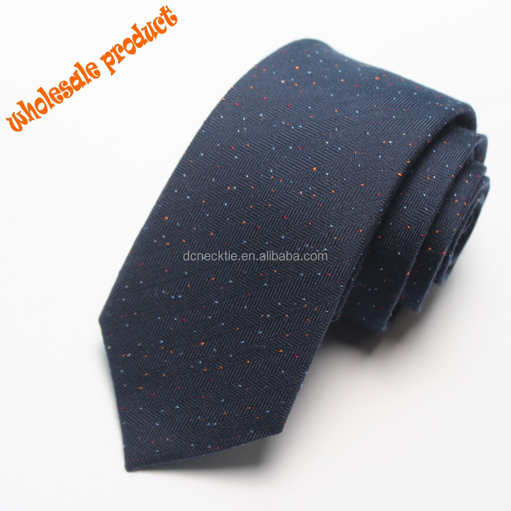 wholesale silk and wool blend woven Mens pin dots mens neck <strong>ties</strong>
