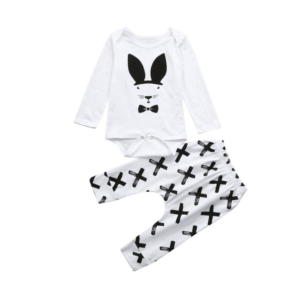 fc92201ce Get Quotations · Winsummer Baby Kids Girls Boys Toddlers Cute Rabbit Romper  Bodysuit+Pants Leggings Set Easter Outfits