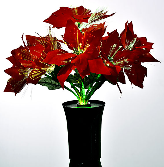 Red Christmas Flower.Home Decorative Hot Sale Led Fiber Optic Red Poinsettia Flowers Led Fiber Optic Red Christmas Flower Light Buy Led Optical Fiber Flower Lamp
