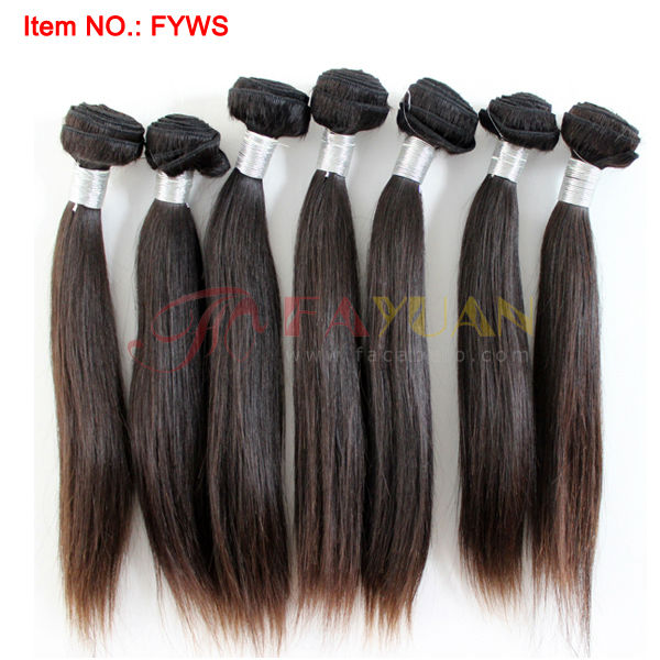 Wholesale One donor young girl straight Virgin indian hair weave Human hair weft