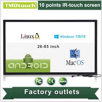 [TMDtouch]60 inch 10 real points IR touch screen panel overlay,ir multi touch screen frame for digital signage and games