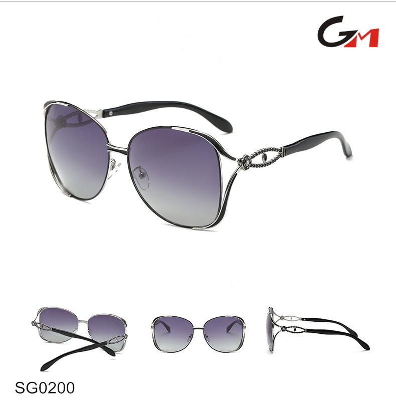 Femmes dames new Italie conception designer belle temple de mode lunettes  de soleil polarisées 2016