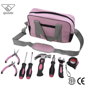 25pcs wholesale Ladies hand tool kit/bag pink tool set