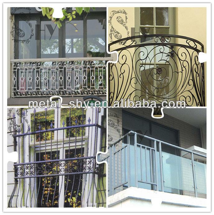 Decorative Wrought Iron Balcony Fence