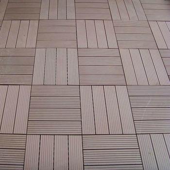 Temporary Wpc Deck Tiles Over Concrete Patio