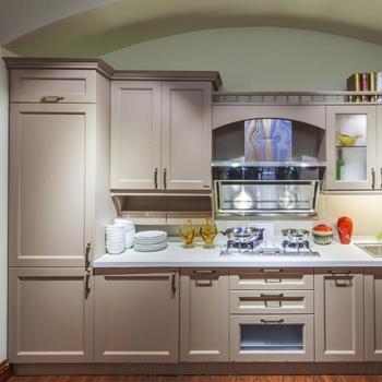 Modern Luxury Hotel Kitchen Furniture Solid Wood Kitchen Cabinet