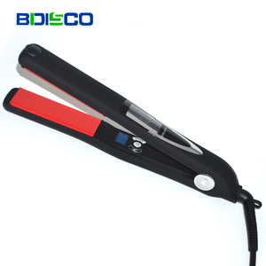 Wholesale Private Label Custom Flat Irons Professional Electric Top 10 Hair Straighteners Vibration Flat Iron