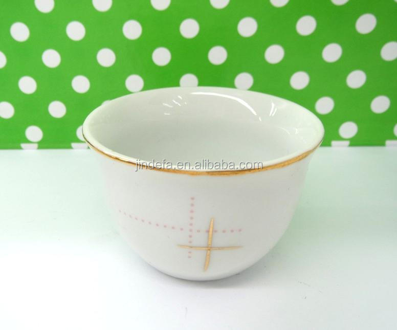 Cheap Glod Line Porcelain Cawa Cup