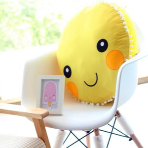 Sun Flower Round Plush Cushion Seat for Kids Baby Cushion Emoji Cushion