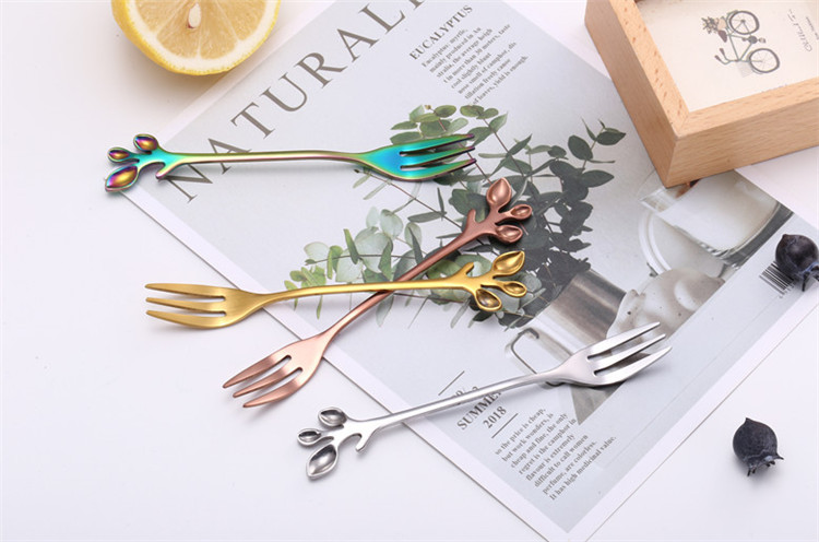 2019 new Leaf  design stainless steel coffee spoon ice cream spoon
