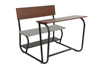 KD MDF Top Board Double Seats Combo School Student Desk and Chair
