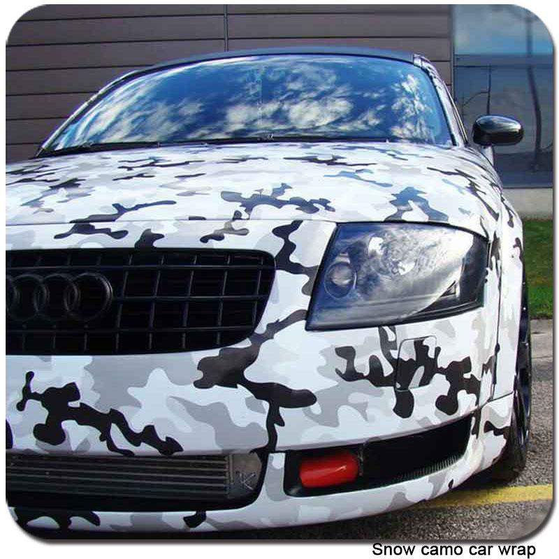 TSAUTOP New snow Camouflage Car Wrap Vinyl camo snow car