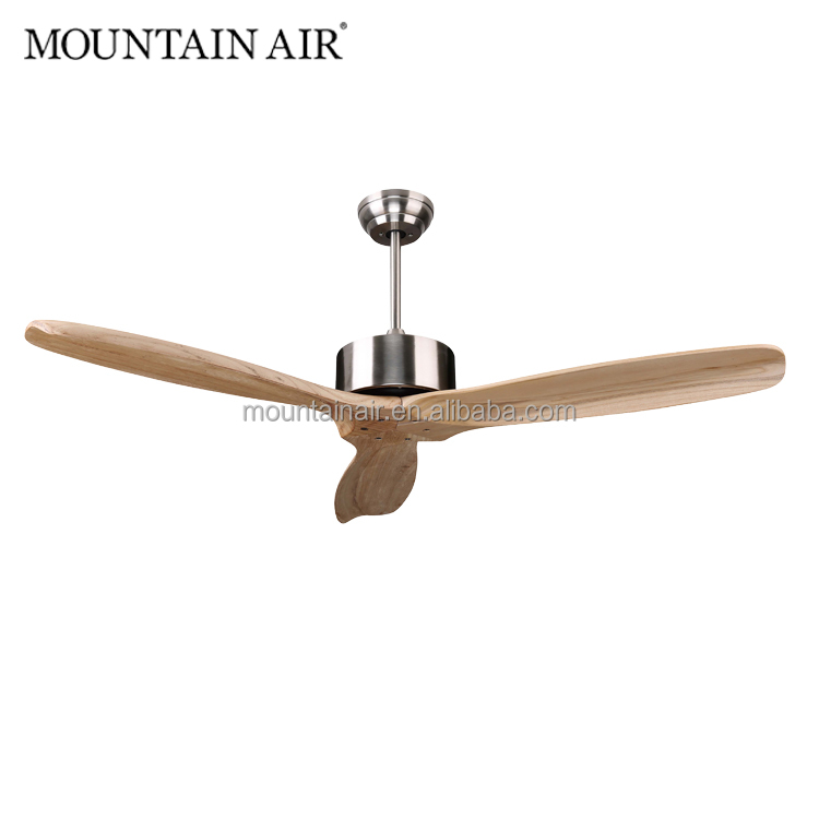 MOUNTAIN AIR electrical natural wood 3 blade decorative ceiling <strong>fan</strong> 52YOF-3092