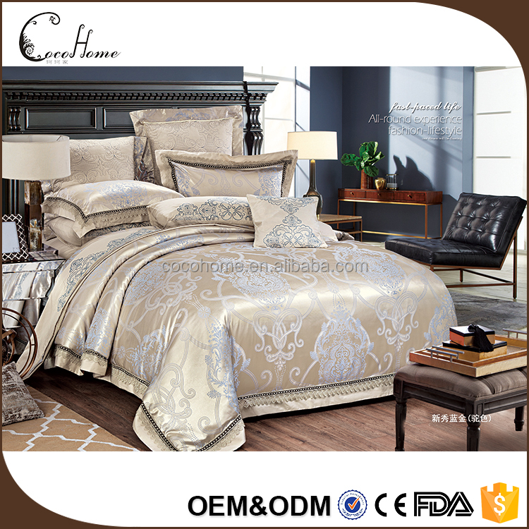 XWLB252 fashional and elegant jacquard decorative home polyester bedding set