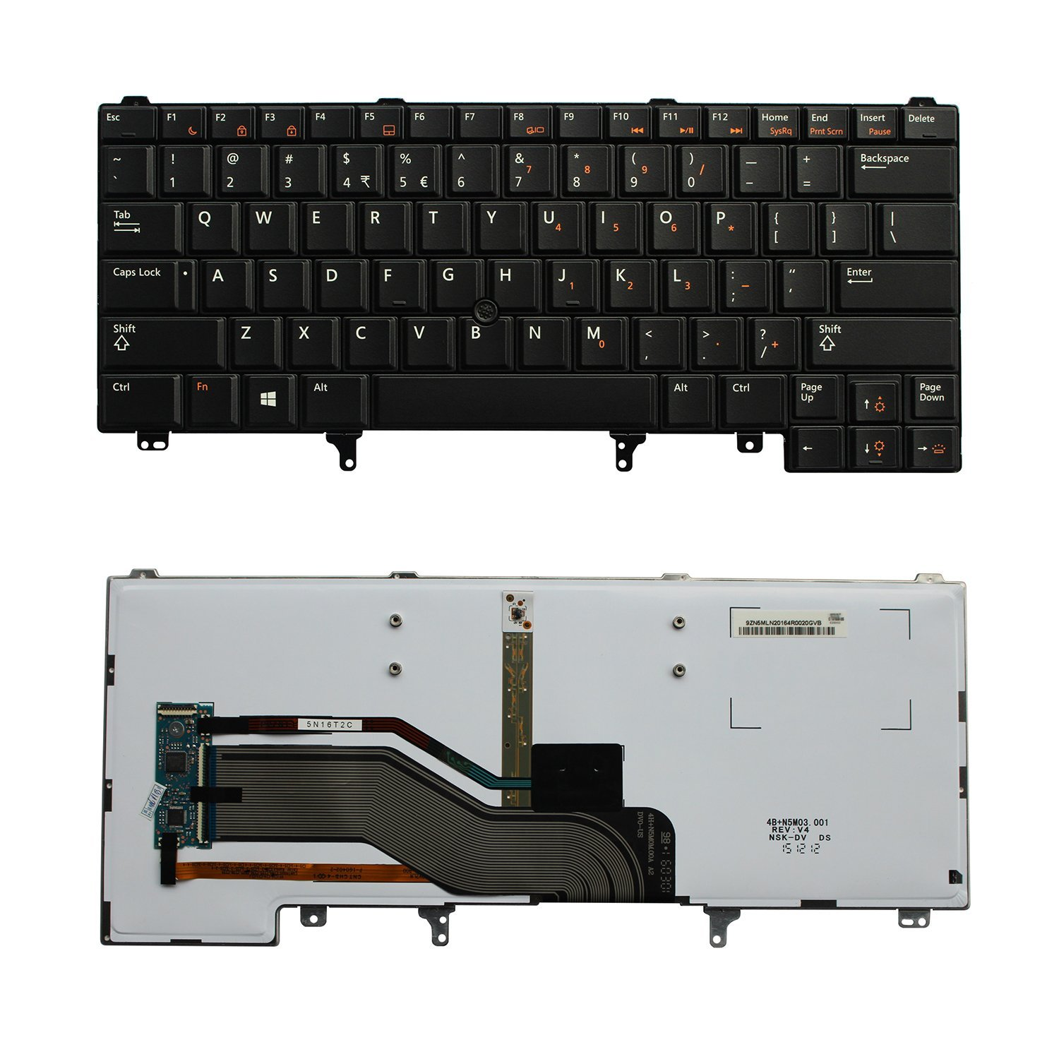 New Relacement US Backlit Keyboard with Mouse Stick Pointer for DELL Latitude E6320 E6330 E6420 E6430 E6440 E5420 E5430 Series Laptop 0CN5HF 0XMRJV 04CTXW PK130VG3B00