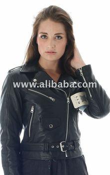 Women S Black Leather Biker Jacket Ladies Jacket Buy Women Leather