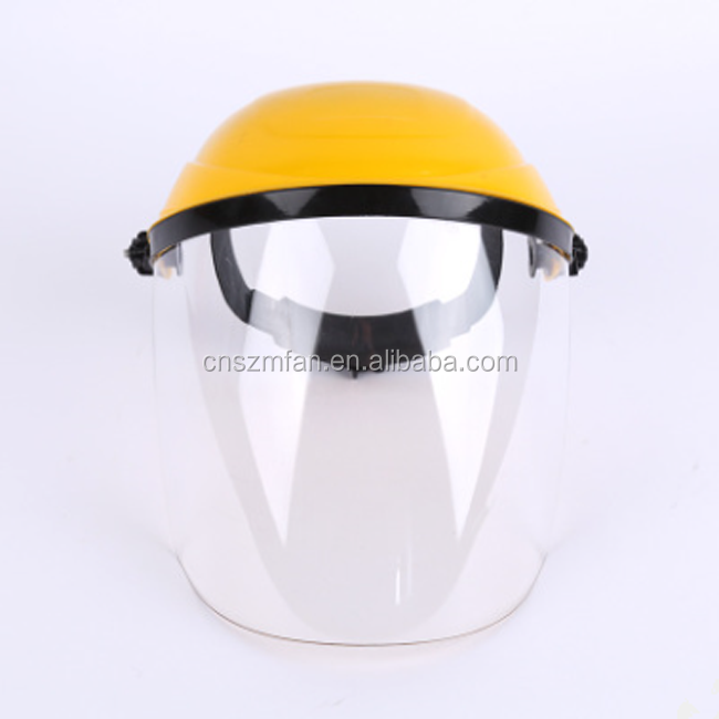 Adjustable safety face shield full face welding shield with PC screen