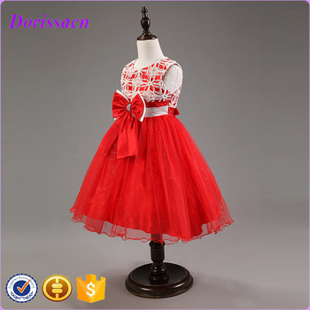 Baby Clothes 2016 Fancy Girl Party Wear Western Dress Printed Tutu ...