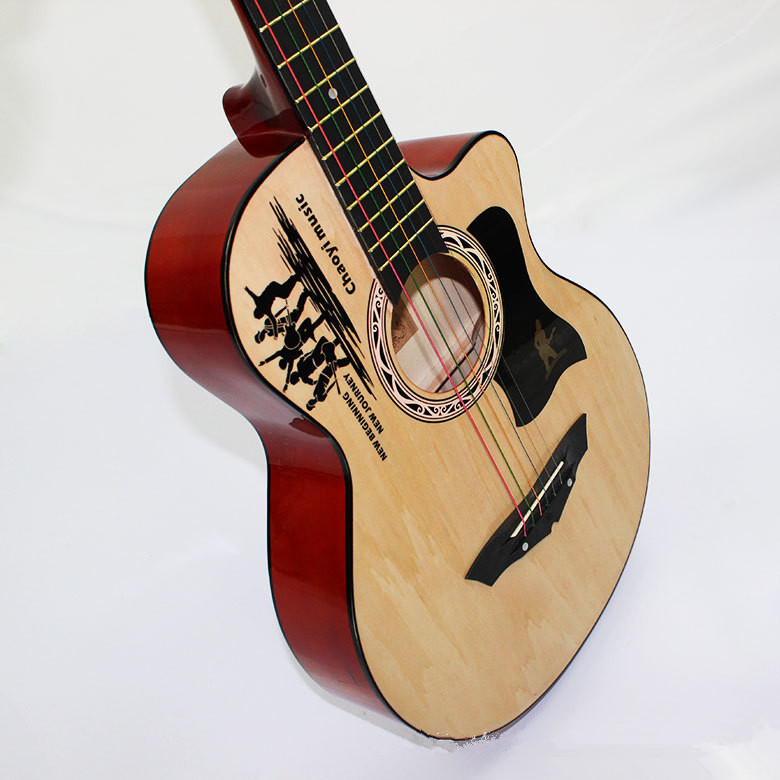 2016 new 38 acoustic guitar 38 9 high quality guitarra musical instruments with guitar strings. Black Bedroom Furniture Sets. Home Design Ideas
