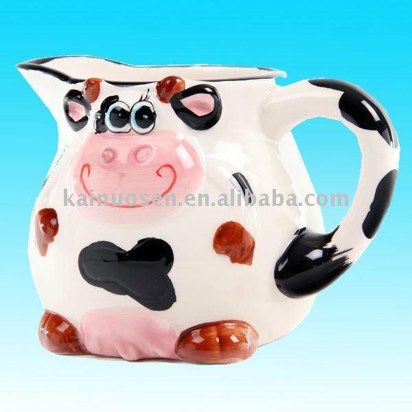 Vaca de cerámica jarra de leche-Tazas-Identificación del producto ...