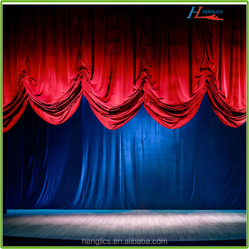 Electric Automatic Velvet Stage Curtains For Sale