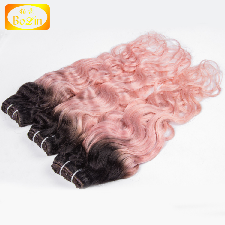 pink purple two tone malaysian body wave extension best virgin human hair wholesale wavy bundles for sale