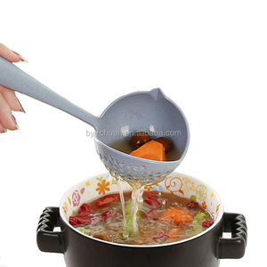 2 in 1 Soup Long Handle Creative Strainer Spoon Cooking Tools